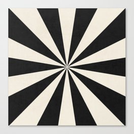 black starburst Canvas Print