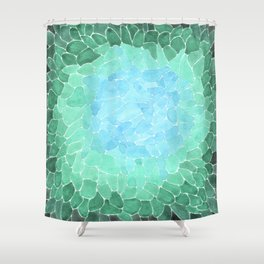 Abstract Sea Glass Shower Curtain