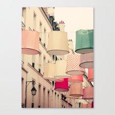 Paris in coral II Canvas Print