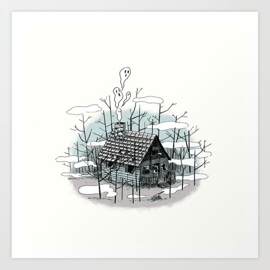DEEP IN THE HEART OF THE FOREST Art Print