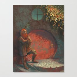 Berned Canvas Print
