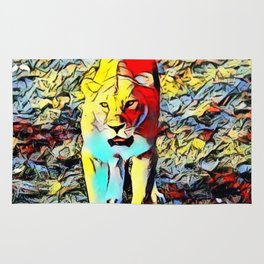 Color Kick -Lion Rug