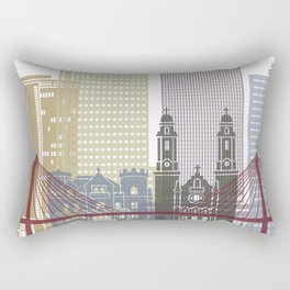 Omaha skyline poster Rectangular Pillow
