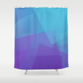 Purple Geometry Shower Curtain