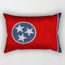 State flag of Tennessee - Vintage retro style Rectangular Pillow