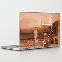 chicago bulls Laptop & iPad Skins featuring Bulls Eye by Laura Brightwood