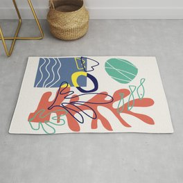 Under the sea coral abstract Rug