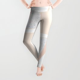 Abstract Iceberg Inspired with Terrazzo Patterns Leggings
