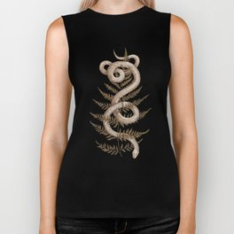 The Snake and Fern Biker Tank