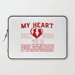 My heart belongs to a Policeman Laptop Sleeve