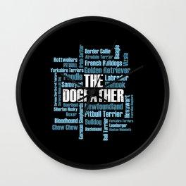 Dog Dogs Dogfather dog breeds Labrador Bulldog Wall Clock