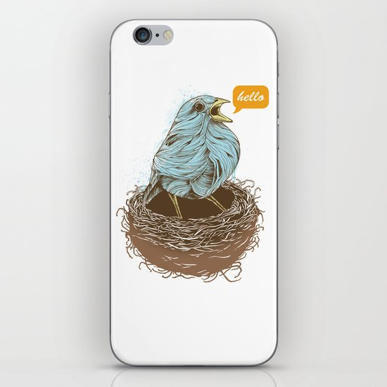 Twisty Bird iPhone & iPod Skin