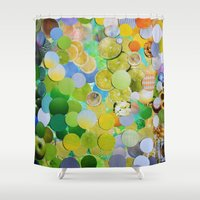melissa smith Shower Curtains featuring Granny Smith by John Turck