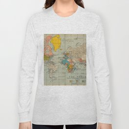 Vintage world map Long Sleeve T-shirt