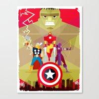 superheros Canvas Prints featuring maravilosos by danvinci