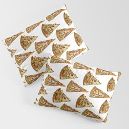 Spicy Meat Pizza Slice Polka Dot Pattern Pillow Sham