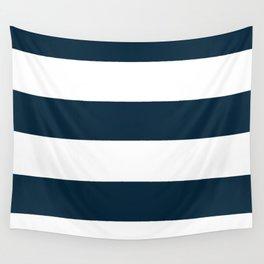 Navy Ocean Cabana Stripes Wall Tapestry