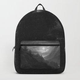 Carl Gustav Carus - Mondschein im Gebirge Backpack
