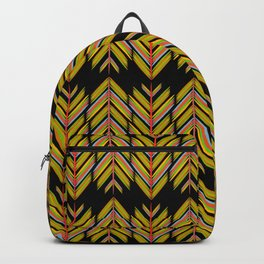 Yellow and orange feathers Backpack