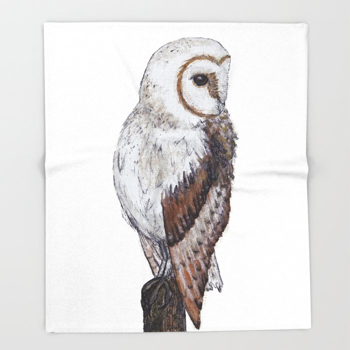 Barn Owl Throw Blanket