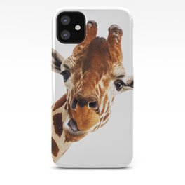 Giraffe Portrait // Wild Animal Cute Zoo Safari Madagascar Wildlife Nursery Decor Ideas iPhone Case