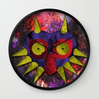majora Wall Clocks featuring Majora by Bradley Bailey