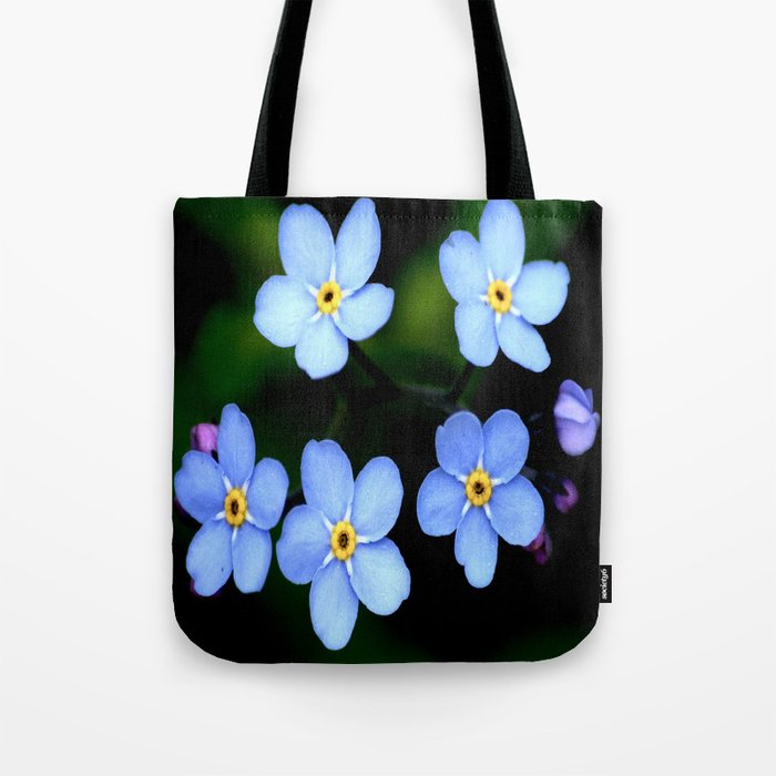 Forget-me-not Tiny Blue Flowers #decor #society6 Tote Bag