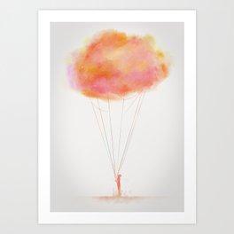 Melancholy Boy Art Print