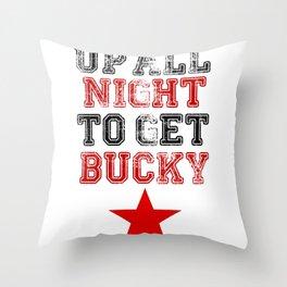 Up All Night Bucky Barnes Throw Pillow