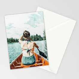 Row Your Own Boat #illustration #decor #painting Stationery Cards