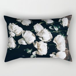 Garden Roses on Stage Rectangular Pillow
