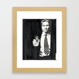 The Man, The Myth, The Monotone Framed Art Print