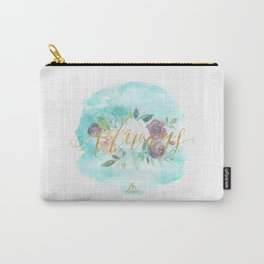 Always - Floral Letterpress/Gold Carry-All Pouch