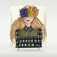 fawn Shower Curtains featuring Fawn by Ally Marie
