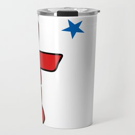 Flag of Nunavut - High quality authentic version Travel Mug
