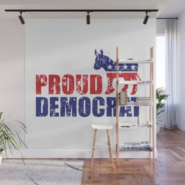 Proud Democrat Donkey Distressed Wall Mural