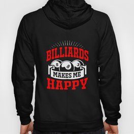 Billiards Happy Cue Sports Pool Billiard Player Hoody