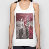 hippy Tank Tops featuring Hippy Girls X Roses by LittleCarmine