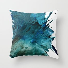 Scenic Route [2]: a pretty, minimal abstract piece in blue and green by Alyssa Hamilton Art Throw Pillow