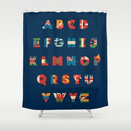 The Alflaget 3 Shower Curtain