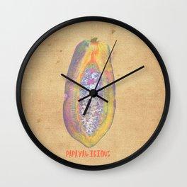 PAPAYALICIOUS Wall Clock