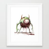 mike wrobel Framed Art Prints featuring MIKE by Austen Mengler