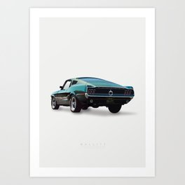 Bullitt - Alternative Movie Poster Art Print