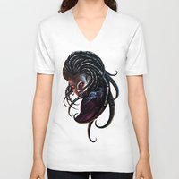 starcraft V-neck T-shirts featuring Queen of Blades by Denda Reloaded