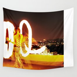 Man on Fire Wall Tapestry