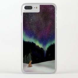 Captured by the night Clear iPhone Case