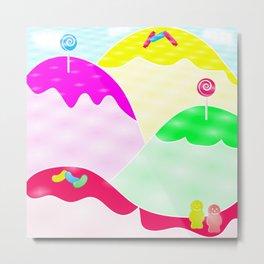 Candy Mountain Metal Print