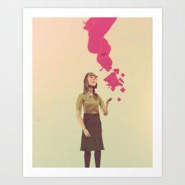 Day 0425 /// On letting go.ne Art Print