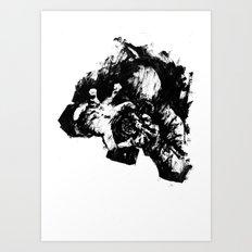 Leroy (Messy Ink Sketch) Art Print