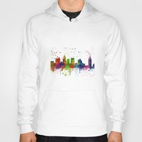 atlanta Hoodies featuring Atlanta Skyline by Marlene Watson
